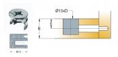 Cam nối Titus 09492 gỗ dày tối thiểu 18/19mm