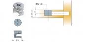 Cam nối Titus 05578 gỗ dày tối thiểu 15/16mm