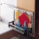 Giá đựng nước rửa NewEra giảm chấn inox hộp 304, rộng 250mm