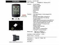 Đồng hồ Cateye Padrone+ PA110W