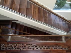 Bậc Cầu thang gỗ Óc Chó (Walnut) - Hoangphucwood