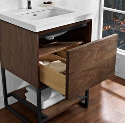 Tủ phòng tắm gỗ Walnut (Óc Chó) Nhập khẩu từ Mỹ