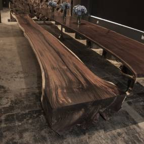 BENCHES 24 FT ROSEWOOD BENCH
