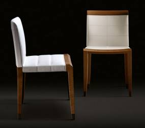 Contemporary chair / upholstered / polyurethane / fabric