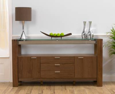Rochelle Walnut & Glass Sideboard