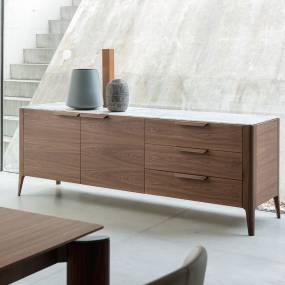 the porada atlante 3 sideboard walnut