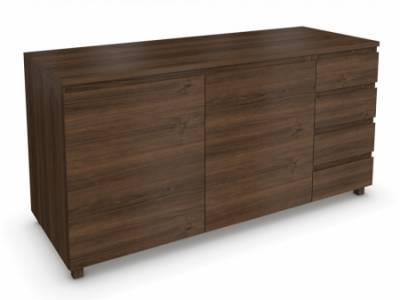 Marco Walnut 2 Door 4 Drawer Sideboard