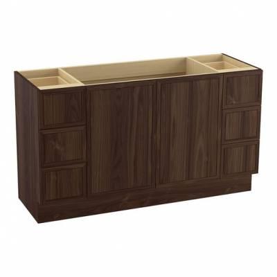 Tủ phòng tắm gỗ Walnut 6 ngăn kéo 2 cánh