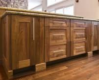 Tủ phòng tắm gỗ Walnut 6 ngăn keo và 2 cánh mở