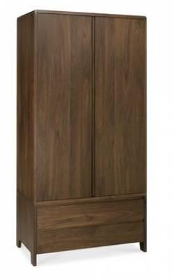 Tủ áo gỗ Walnut 2 cánh (Capri Walnut Double Wardrobe)