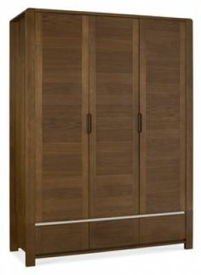 Casa Walnut Triple Wardrobe