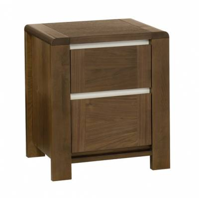 Casa Walnut 2 Drawer Nightstand