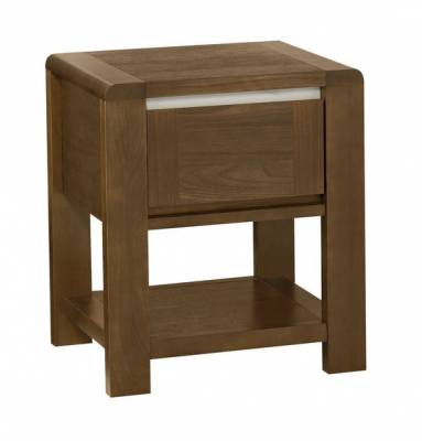 Casa Walnut 1 Drawer Nightstand