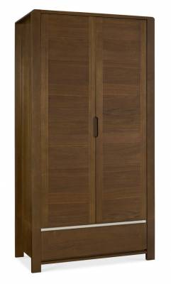 Casa Walnut Double Wardrobe
