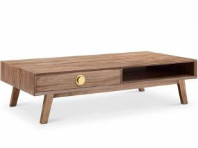 Victory Rect Coffee Table WALNUT/GOLD