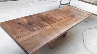 Cửa gỗ óc chó (walnut) ghép xoay vân - Video full HD