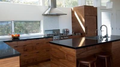 Mẫu kệ bếp, tủ bếp gỗ óc chó (walnut) WKC H03
