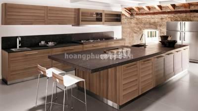 Mẫu kệ bếp, tủ bếp gỗ óc chó (walnut) WKC H09