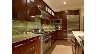 Mẫu kệ bếp, tủ bếp gỗ óc chó (walnut) WKC H010