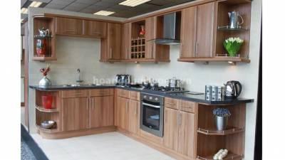 Mẫu kệ bếp, tủ bếp gỗ óc chó (walnut) WKC H012