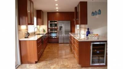 Mẫu kệ bếp, tủ bếp gỗ tự nhiên WKC H015