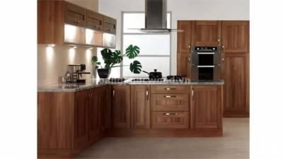 Mẫu kệ bếp, tủ bếp gỗ óc chó (walnut) WKC H017
