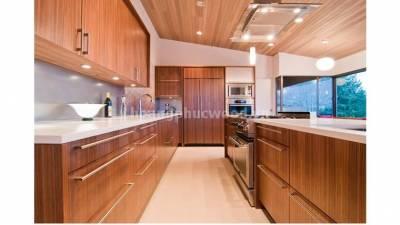 Mẫu kệ bếp, tủ bếp gỗ óc chó (walnut) WKC H018