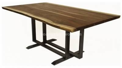 Bàn ăn 8 ghế, hình chữ nhật, gỗ óc chó (walnut) – WDT H111