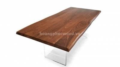 Bàn ăn 8 ghế, hình chữ nhật, gỗ óc chó (walnut) – WDT H112