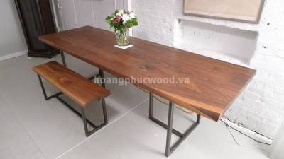 Bàn ăn 10 ghế, hình chữ nhật, gỗ óc chó (walnut) – WDT H114 - Tp HCM, quận Gò Vấp