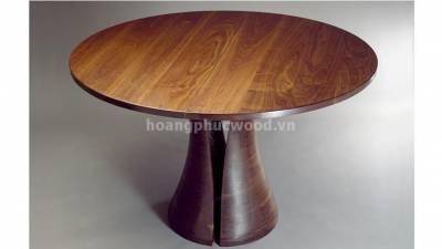 Bàn ăn tròn cực chất, gỗ óc chó (walnut) – WDT H119 - Tp HCM, quận 7