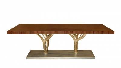 Bàn ăn 10 ghế, chân cành cây gỗ óc chó (walnut) – WDT H121 Quận 2, Tp HCM