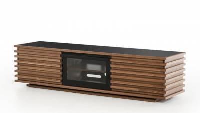 Kệ tivi gỗ óc chó (walnut) khắc 3D 3 mặt TSW 112 - Tp HCM