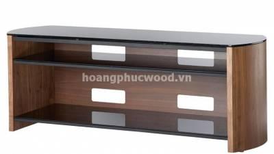 Kệ tivi gỗ óc chó (walnut) đợt kính đầy hiện đại – TSW 126 – Tp HCM
