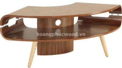Kệ tivi gỗ óc chó (walnut) cong nghệ thuật – TSW 121 – Tp HCM