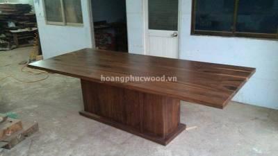 Cung cấp bàn ăn gỗ óc chó (walnut) chữ nhật 8 – 12 ghế WDT 134