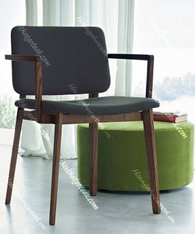 Ghế đơn gỗ sồi (Oak – Bắc Mỹ) sơn màu óc chó - GBA G19