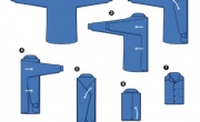 3 cách gập áo sơ mi gọn gàng và tinh tế (Mẹo gấp áo sơ mi)
