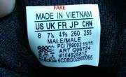 Hướng dẫn sơ lược cách check tem đối với giày Adidas - phan biet giay VNXK original va giay Fake