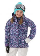 Columbia Girls Horizon Ride Jacket  Hyper Purple Print WG5006