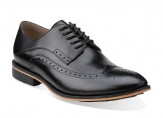 Clarks Gatley Limit in Black Leather 26103024