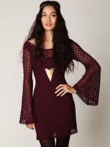 Free People Gypsy Lace Dress in Purple (Burgundy) - Đầm Free People VNXK