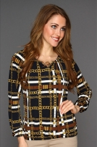 Michael Kors Plaid Blouson Peasant Top - Áo sơ mi Michael Kors VNXK