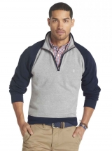 Izod Mock Neck Zip Sueded Fleece