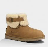 Ugg Australia Jocelin Fur Ankle Boots in Chesnut 1003919 UGG