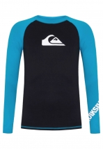 Quiksilver Camiseta Surf UV All Times Bkw Preta