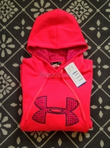 Under Armour Performance Big Logo Hoodie Neon Pink Women's 1250198 Under Armour
