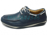 Clarks Movers Deck in Navy Leather - giay the thao clarks, giay da clarks
