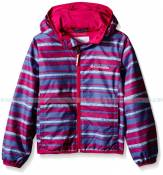 Columbia Big Girls' Pixel Grabber II Wind Jacket Haute Pink Stripe KY3714 Columbia ao gio tre em