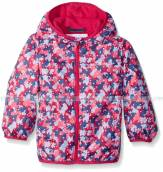Columbia Big Girls' Pixel Grabber II Wind Jacket Haute Pink Stripe KY3714 Columbia ao chong nuoc